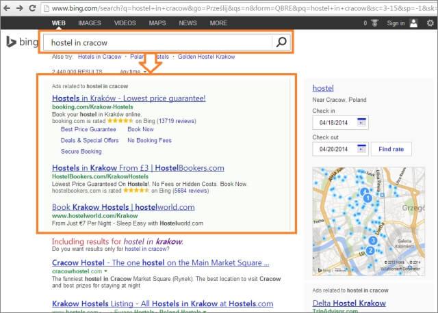 Reklama w Bing